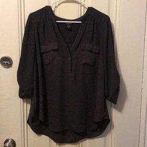 Torrid Harper blouse - Grey, size 0 w/ flaw
